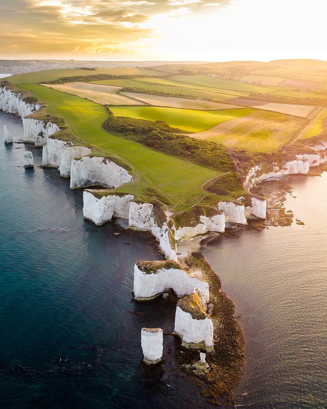 Удивительные пейзажи на аэрофотоснимках Хьюго Хили