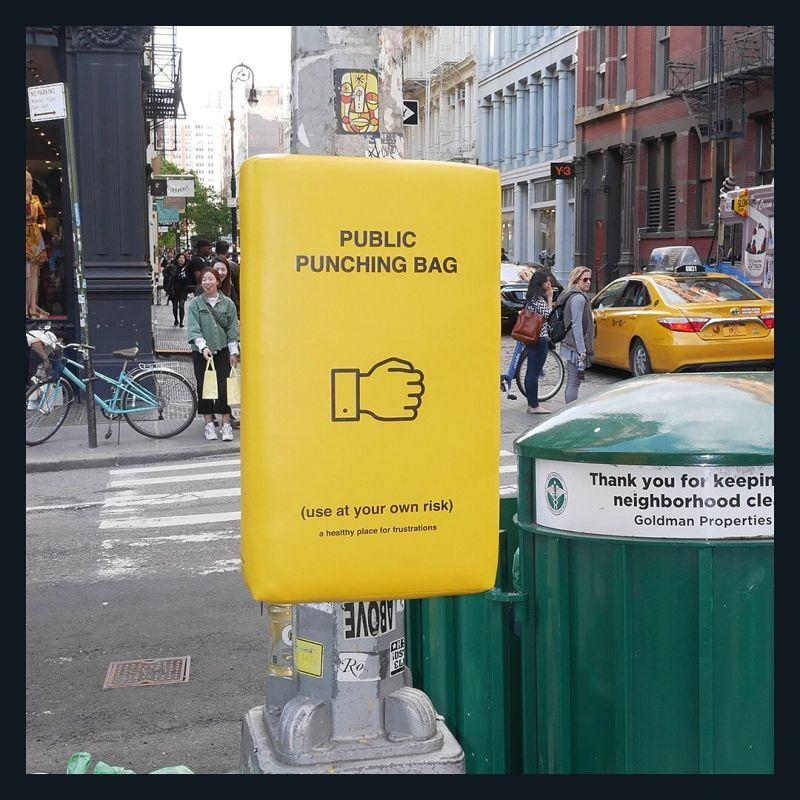 Уличные груши для битья на Манхэттене