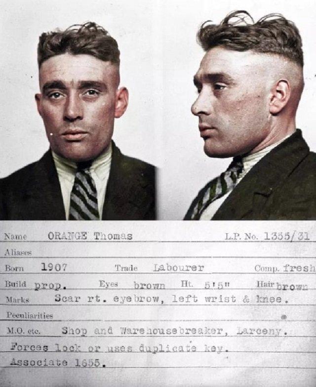 Ирландский художник колоризировал снимки британских преступников 1920-30-х годов