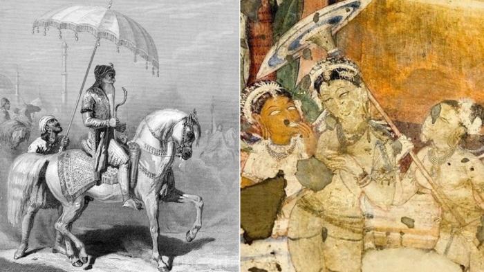 Как зонт использовали в древности