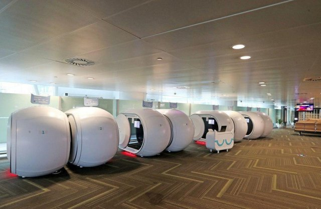 Капсульные комнаты отдыха в международных аэропортах Китая