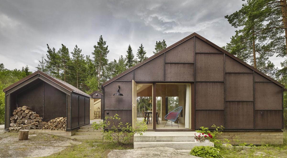 Летний дом из фанеры в Швеции