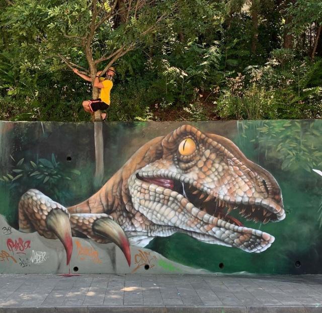 Реалистичные граффити от французского мастера SCAF