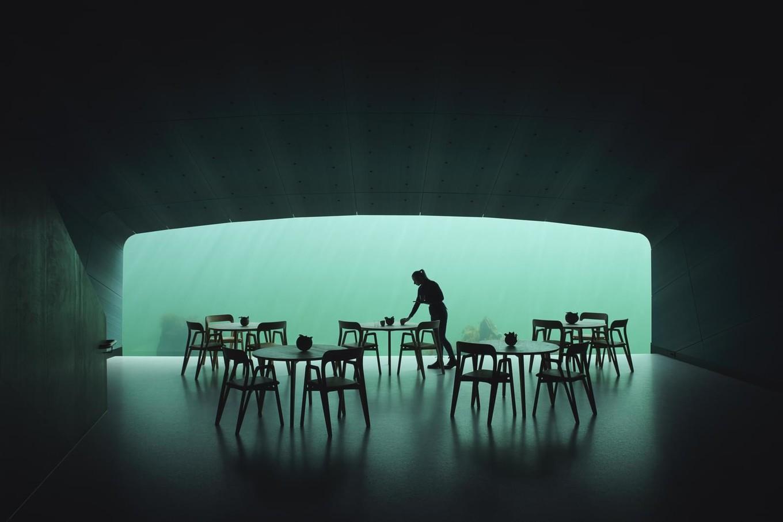 Ресторан Under на дне моря в Норвегии