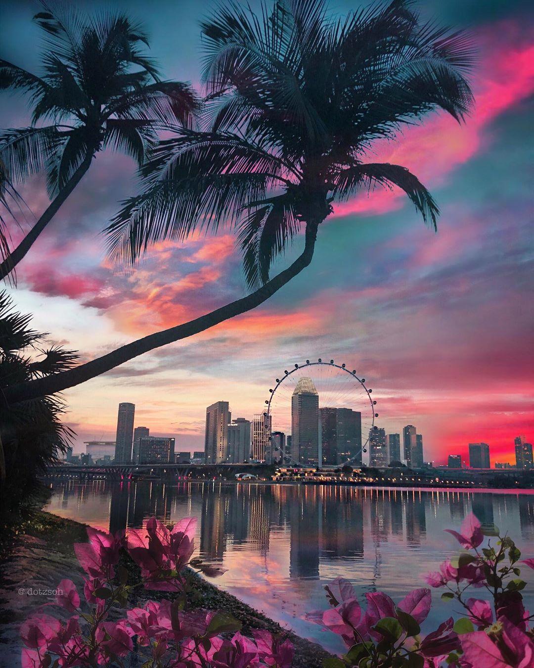 Яркие городские и туристические пейзажи на снимках от Dotz Soh