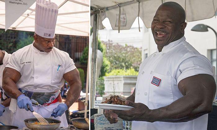 Андре Раш — мускулистый шеф-повар Белого дома