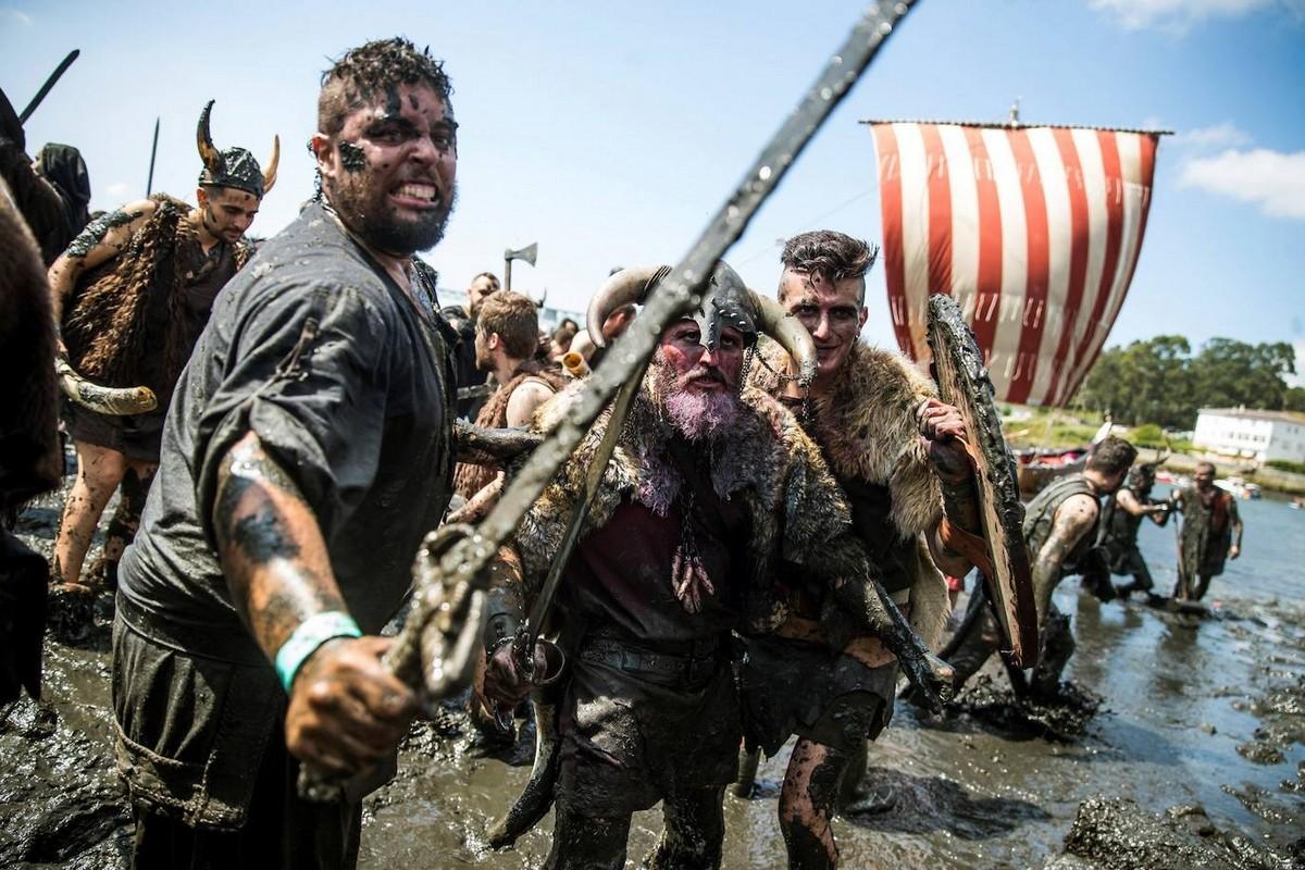 Фестиваль викингов Romeria Vikinga de Catoira в Испании