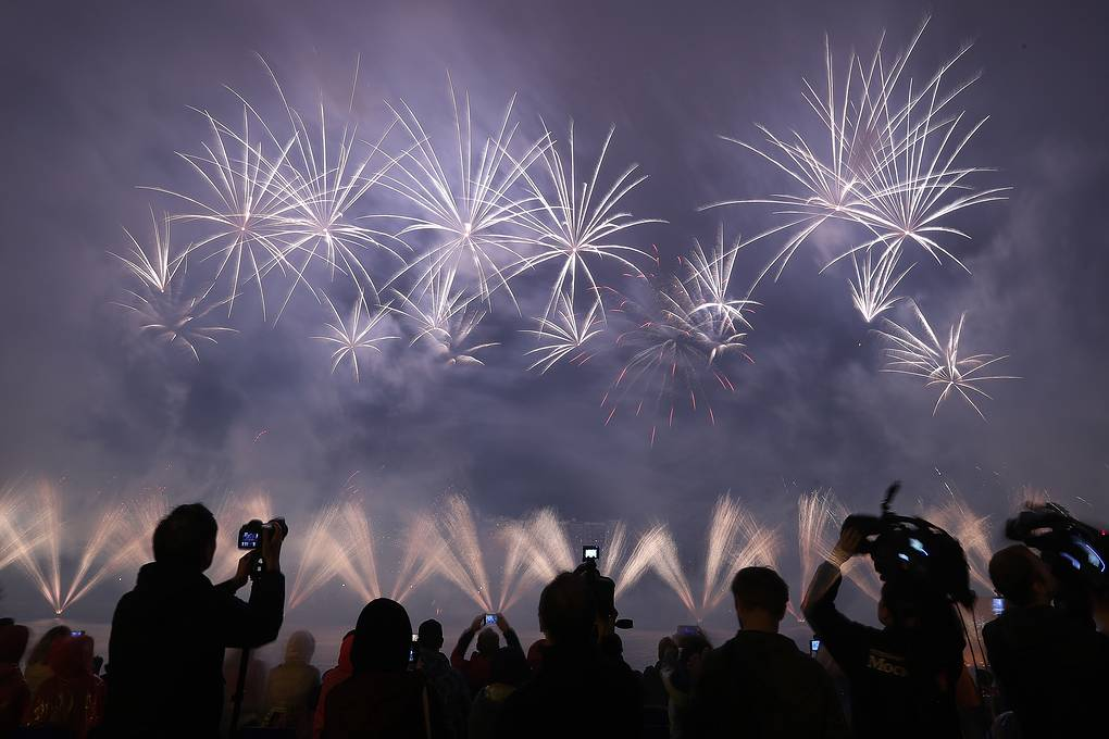 Пятый международный фестиваль фейерверков прошел в Москве