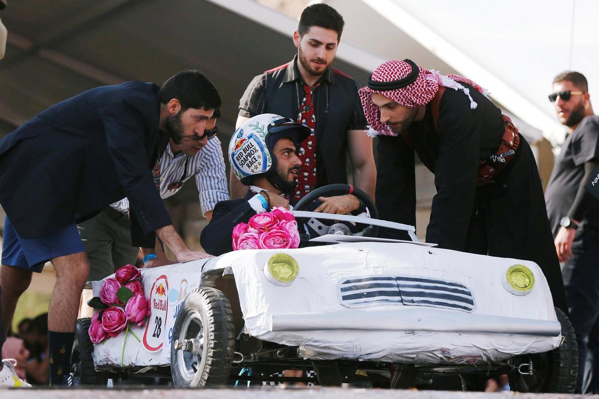 Гонка Red Bull Soapbox на самодельных автомобилях в Иордании