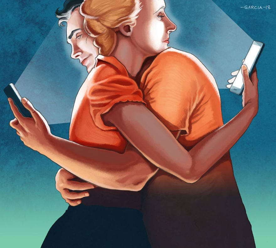 Иллюстрации о проблемах современного общества от Даниэля Гарсии