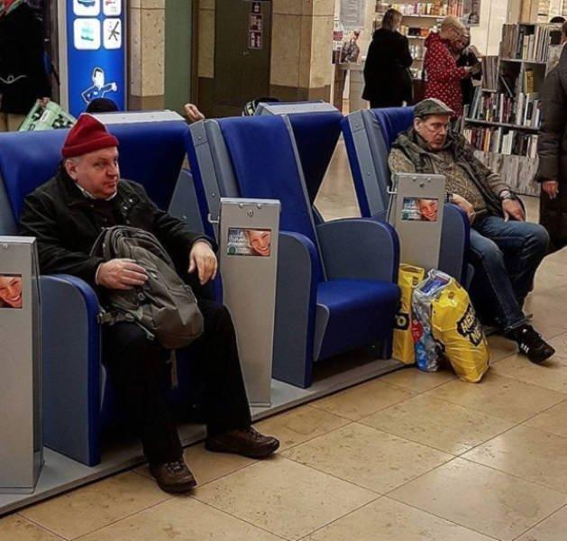 Мужчины томятся в шоппинговом аду