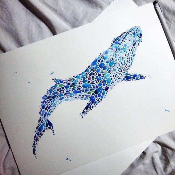 Точечные рисунки животных от Аны Еншиной