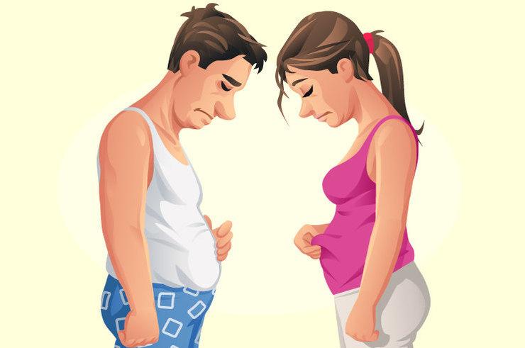 Внезапный набор веса может указывать на болезни?