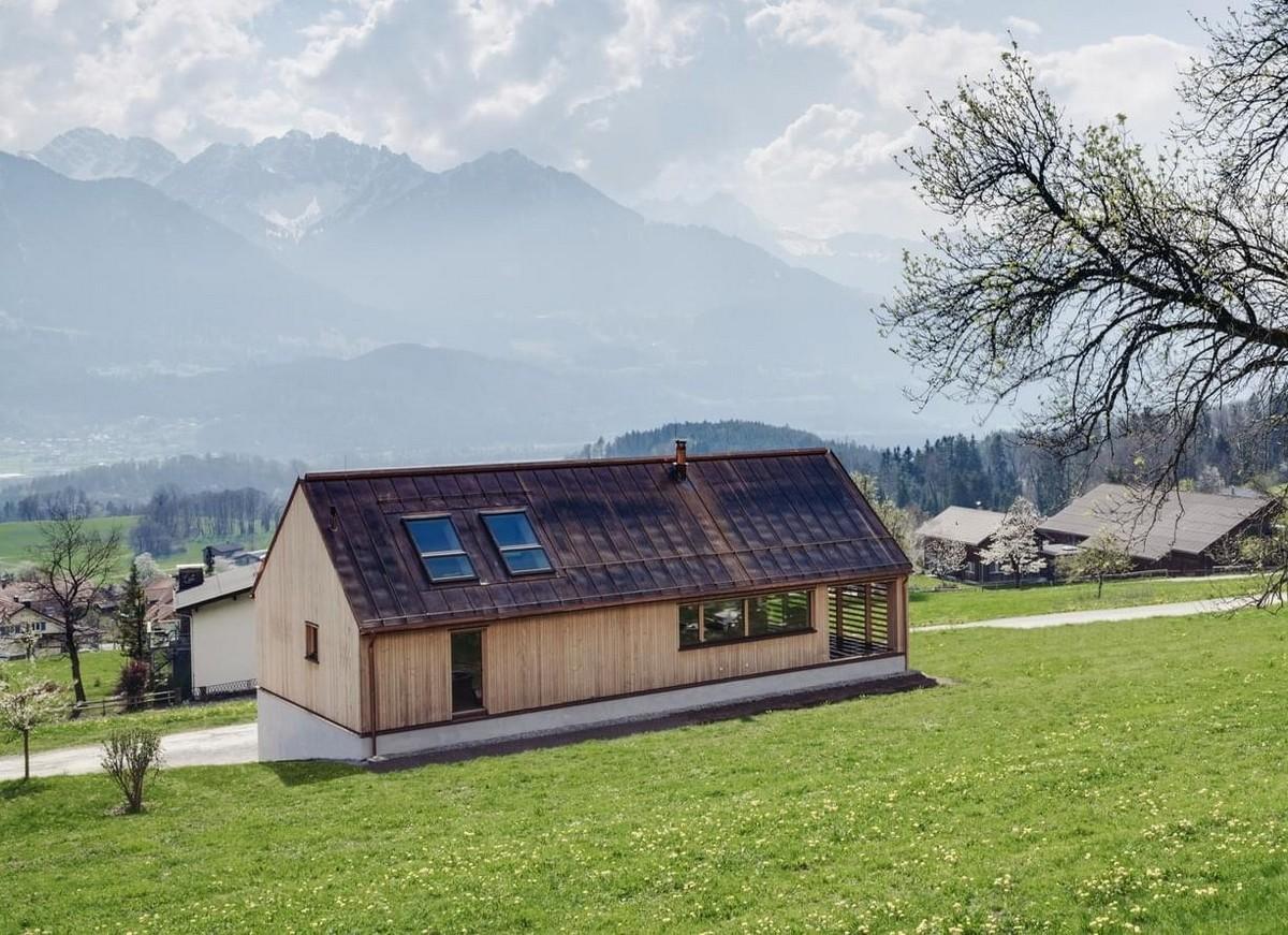 Частный деревянный дом в Австрии