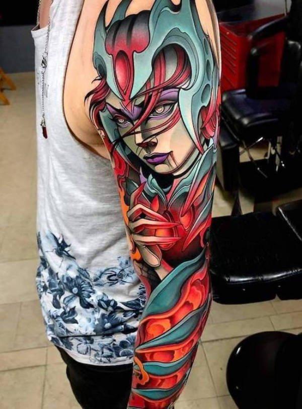 Гиперреалистичные татуировки