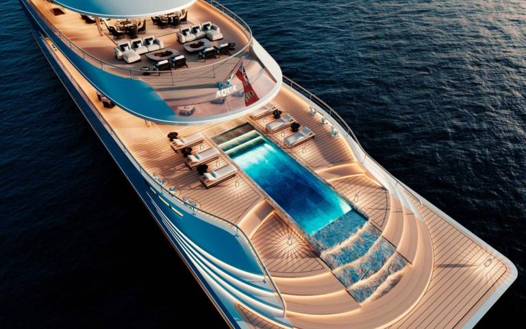 Концепция яхты Aqua, работающей на жидком водороде