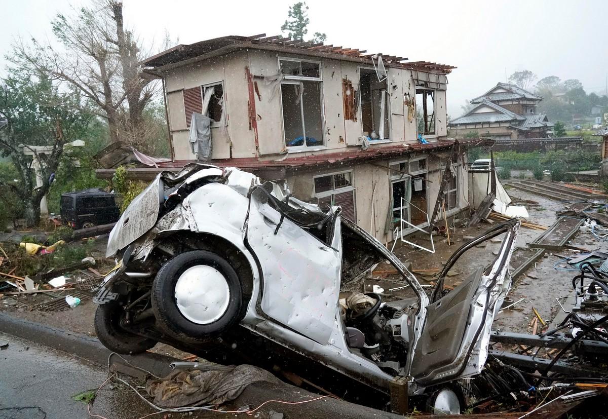 Последствия от тайфуна «Хагибис» в Японии