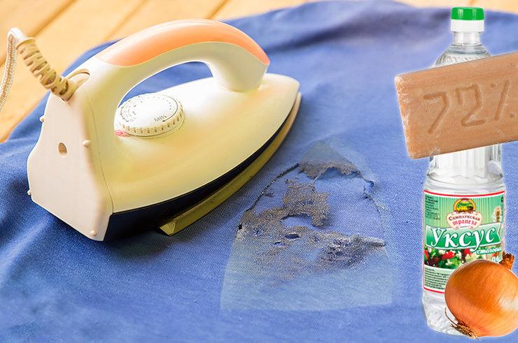 Способы аккуратно убрать следы от утюга с одежды