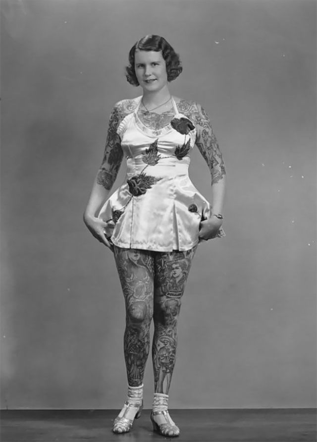 Бетти Бродбент — самая татуированная женщина ХХ века