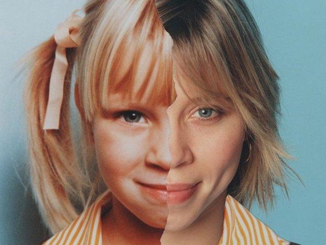 Фотограф наглядно показал, как с годами меняются лица людей