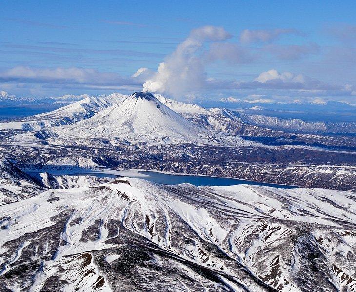 Красота зимней Камчатки с высоты