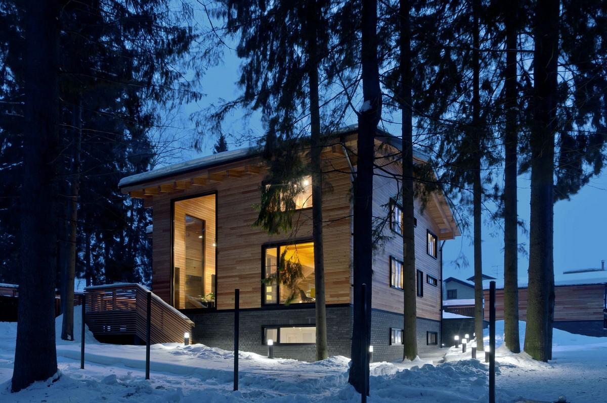 Роскошный семейный дом из бруса в России