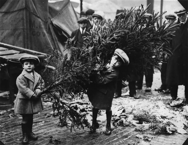 Архивные рождественские фотографии 1895-1930 годов