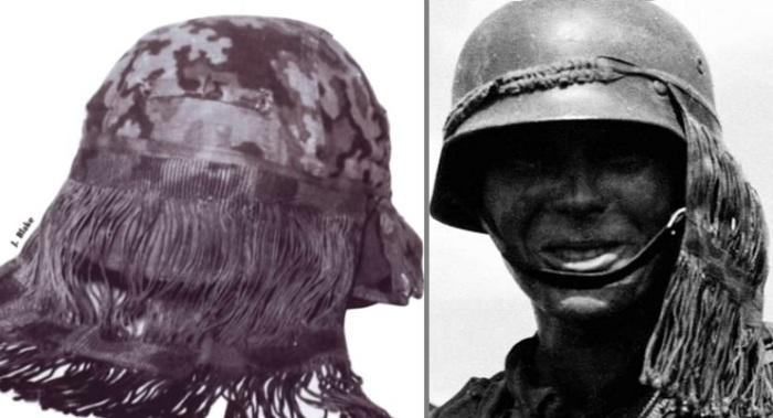 Для чего были нужны «волосы» на каске немецких солдат