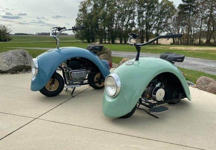 Изобретатель создал минискутер в стиле Volkswagen Beetle