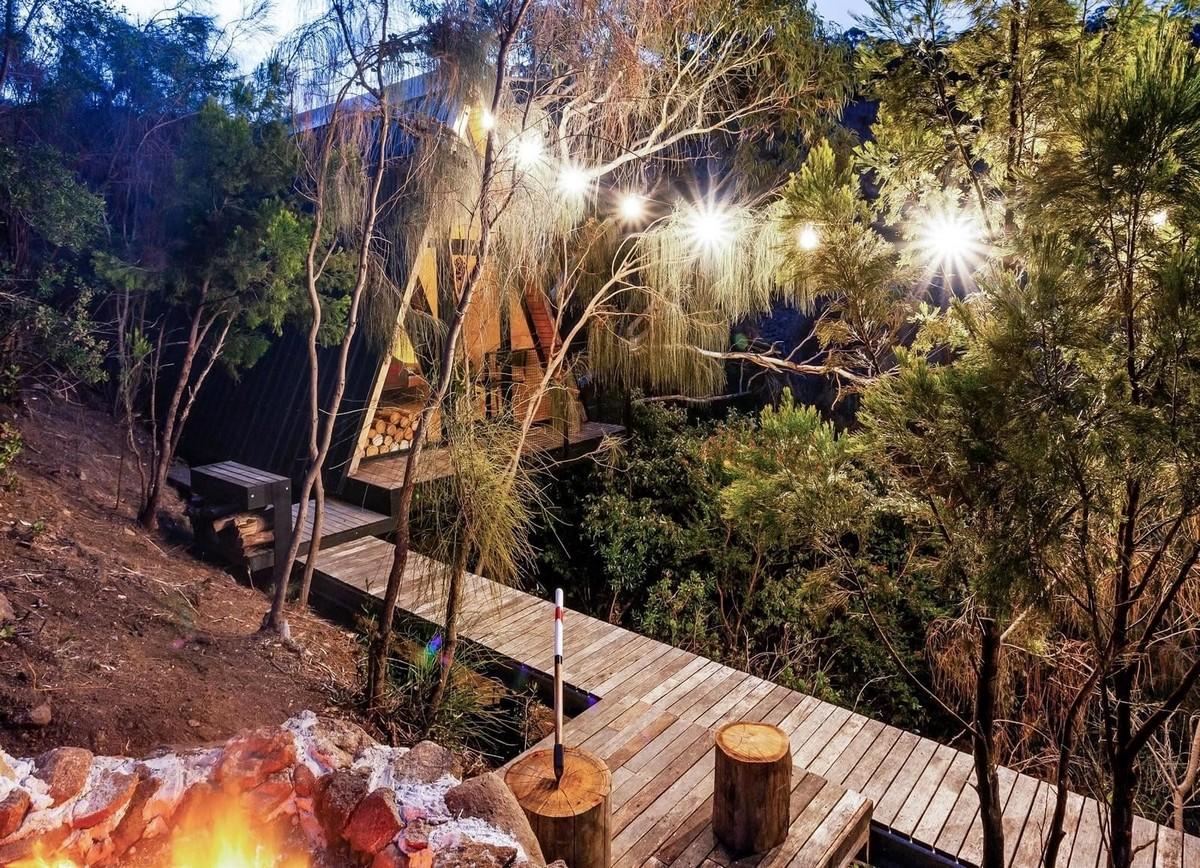 Лесной домик на дереве в Австралии