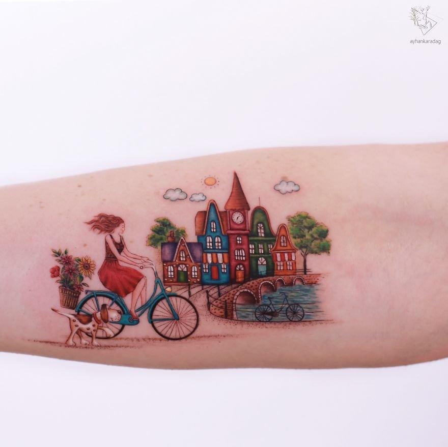 Миниатюрные татуировки от стамбульского тату-мастера