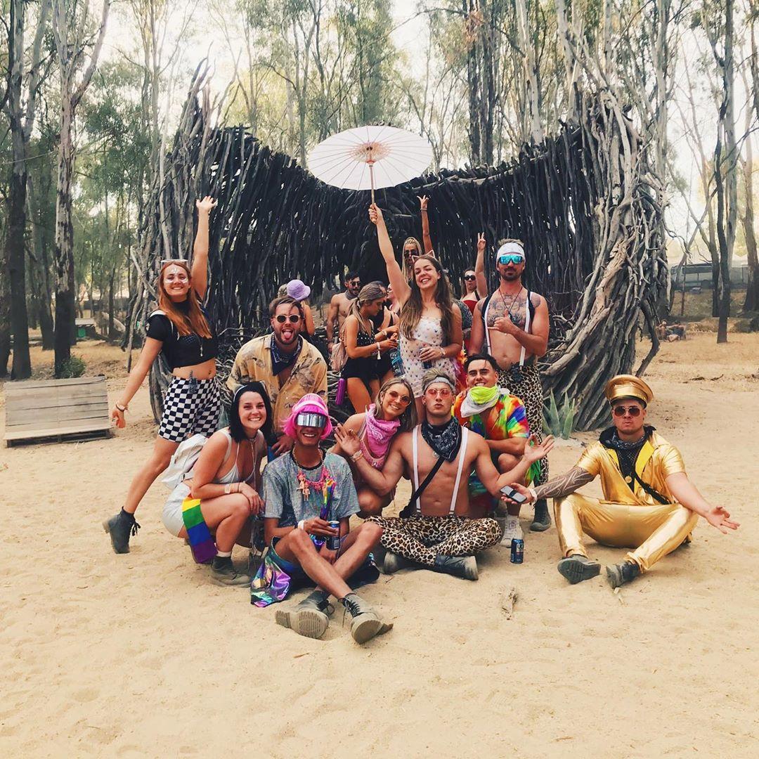 Посетители фестиваля «Strawberry Fields» в Австралии