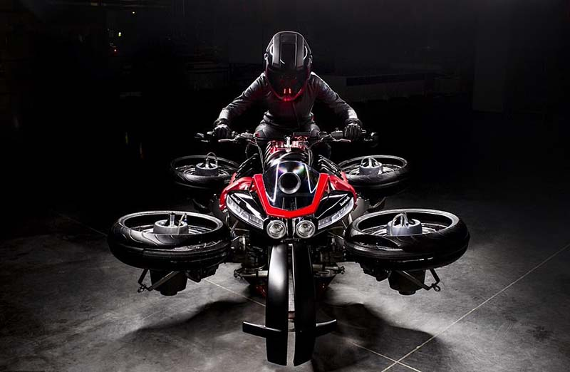 Удивительный летающий мотоцикл LMV 496