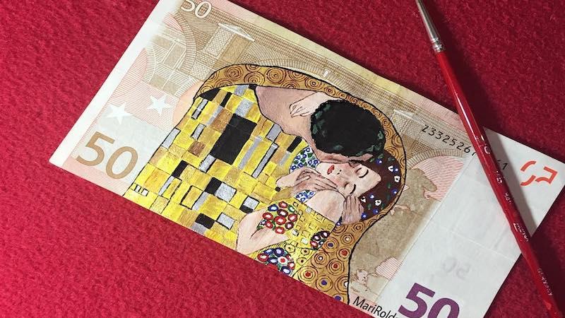 Картины на денежных купюрах от испанской художницы