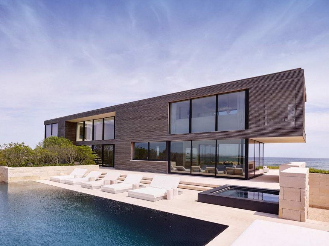 Модернистский дом у океана в США