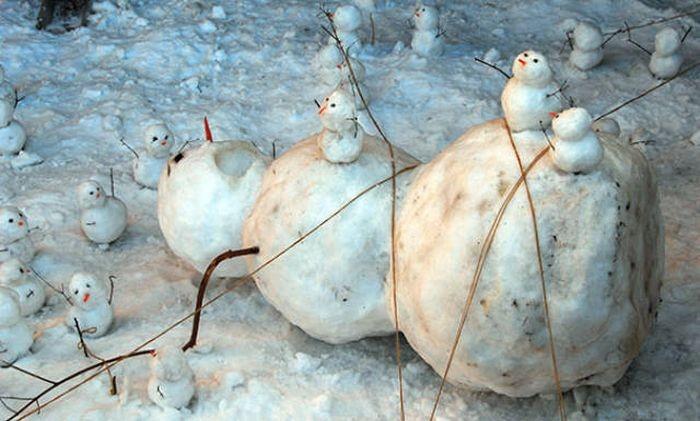 Подборка самых разнообразных снеговиков