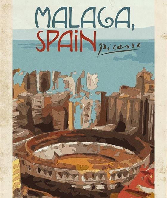 Туристические плакаты для городов, которые могли бы нарисовать знаменитые художники
