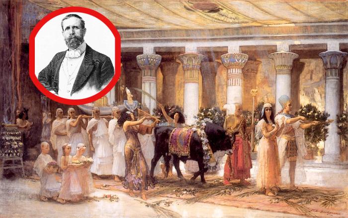 Загадки картины Бриджмена «Процессия священного быка Анубиса»