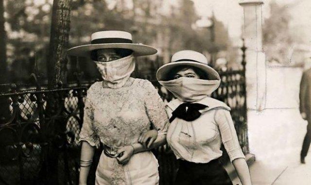 Фотографии времен пандемии смертоносной «испанки»