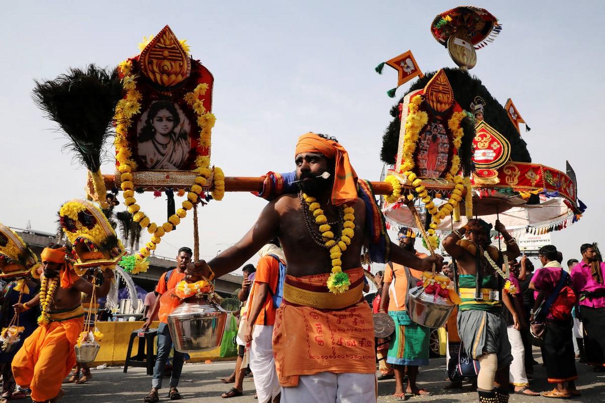 Индуистский фестиваль Тайпусам в малазийском стиле