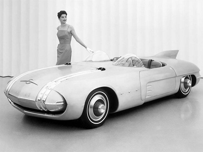 Концепт-кар Pontiac Club De Mer 1956, вдохновленный реактивным веком