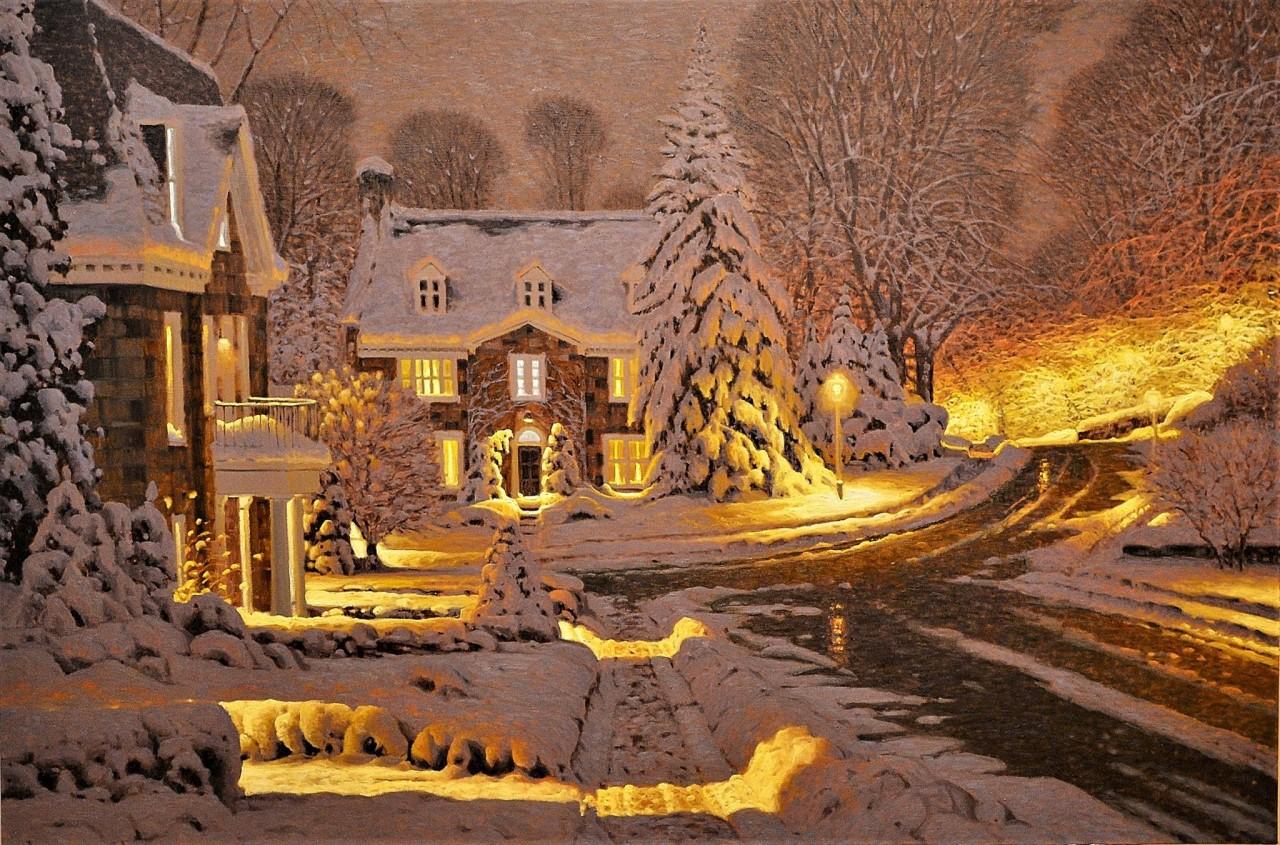 Волшебная зима на картинах Ришара Савуа