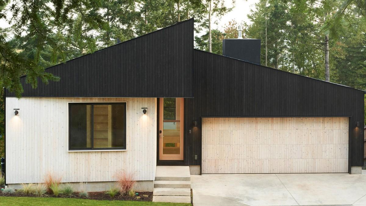 Деревянный дом для близнецов в штате Вашингтон