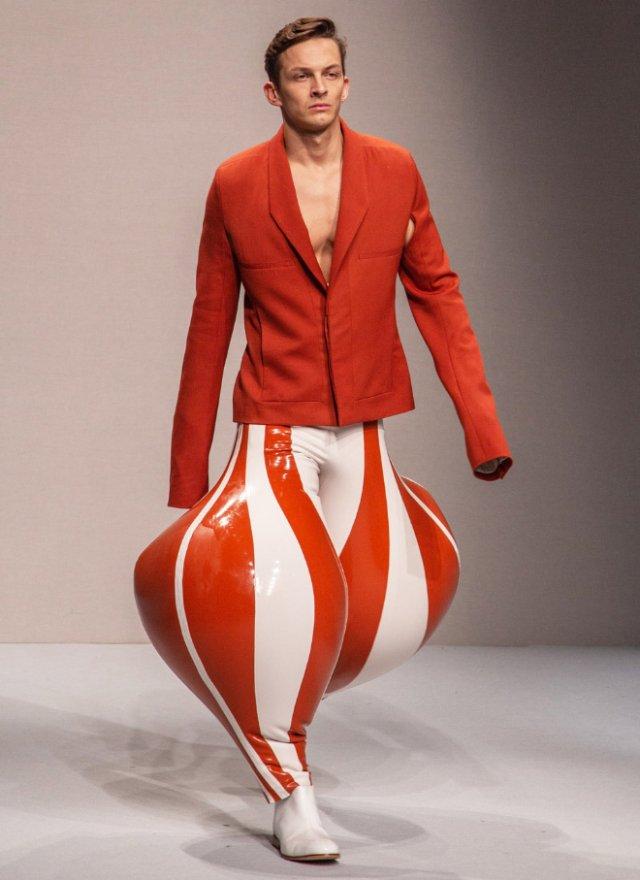 Необычная модная коллекция мужских брюк от Лондонского колледжа моды