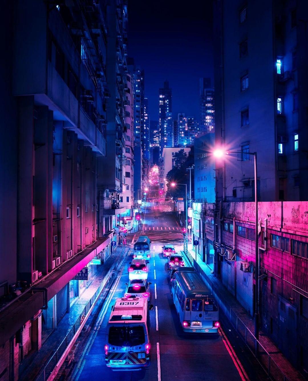 Повседневные ночные сцены в крупных мегаполисах от Axel Corjon