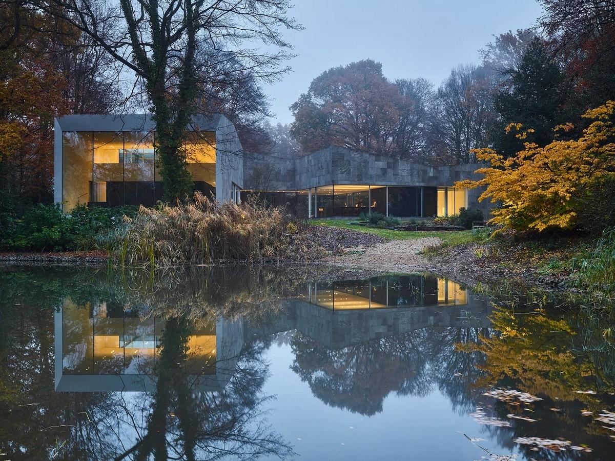 Частный дом с облицовкой из камня в Бельгии
