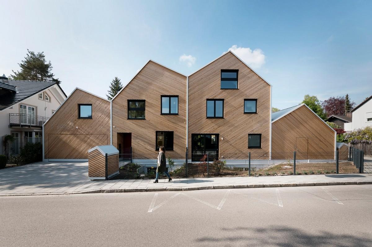 Стильный деревянный дуплекс в Германии
