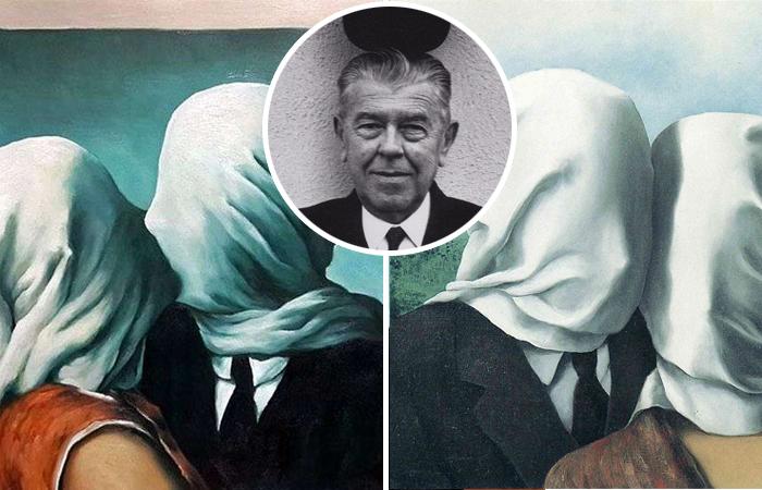 Тайна прикрытых лиц на картинах Рене Магритта «Влюбленные»