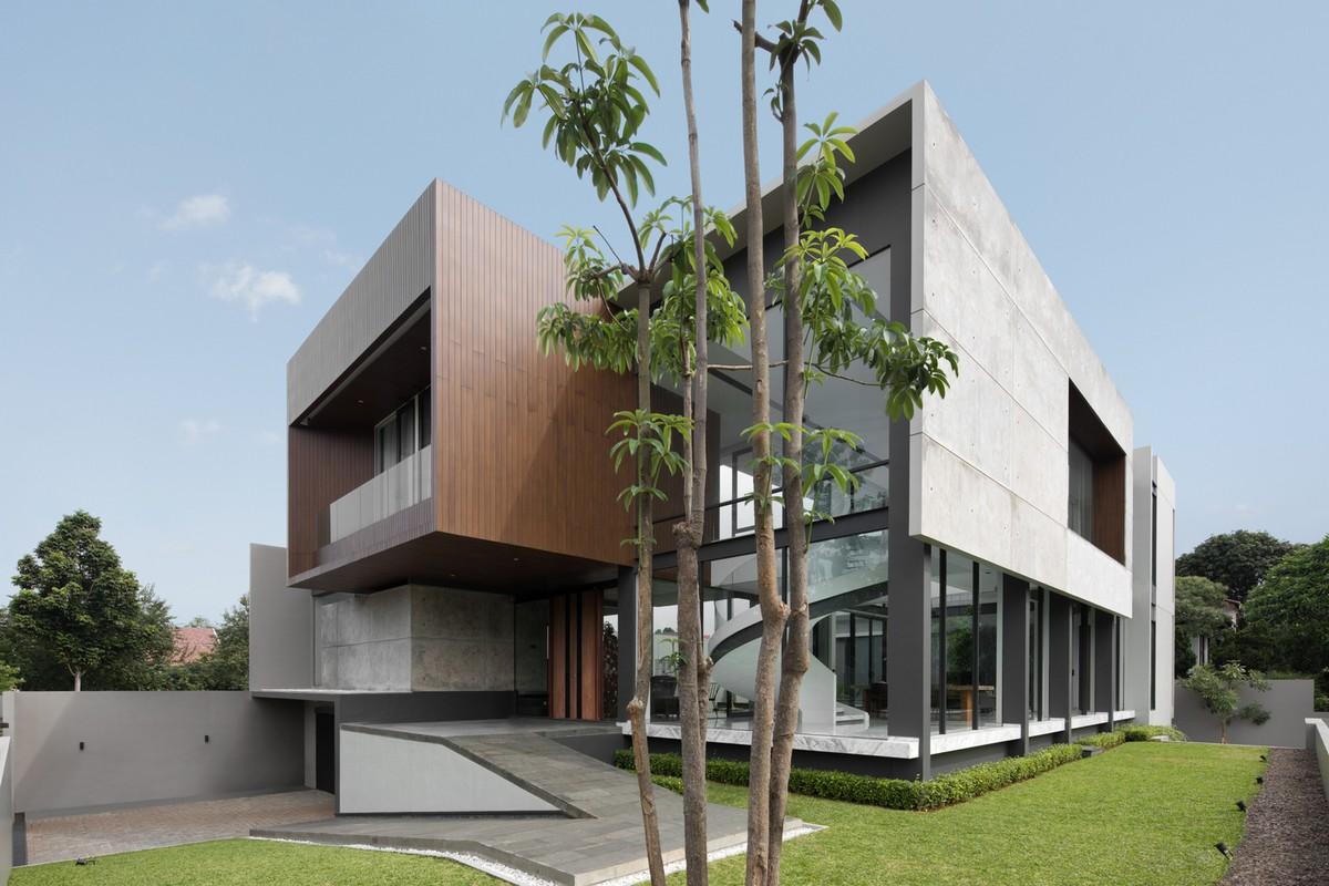 Яркий эффектный дом в Индонезии