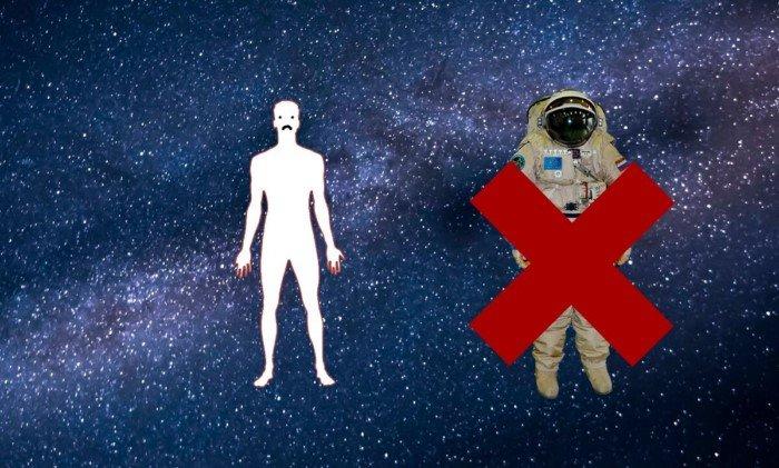 А если человек окажется в открытом космосе без скафандра?